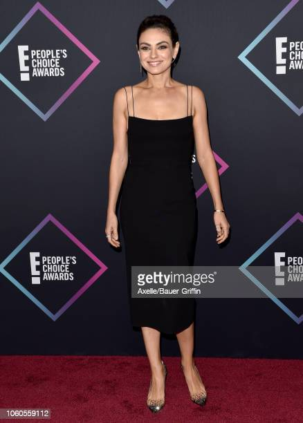 Mila Kunis attends the People's Choice Awards 2018 at Barker Hangar on November 11 2018 in Santa Monica California