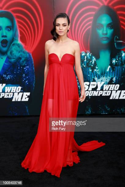 Mila Kunis attends the premiere of Lionsgate's 'The Spy Who Dumped Me' at Fox Village Theater on July 25 2018 in Los Angeles California