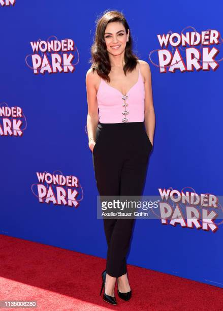 Mila Kunis attends the premiere of Paramount Pictures' 'Wonder Park' at Regency Bruin Theatre on March 10 2019 in Los Angeles California