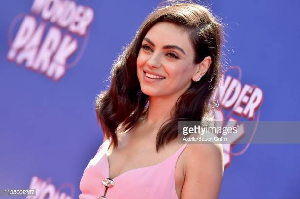 Mila Kunis attends the premiere of Paramount Pictures' 'Wonder Park' at Regency Bruin Theatre on March 10, 2019 in Los Angeles, California.