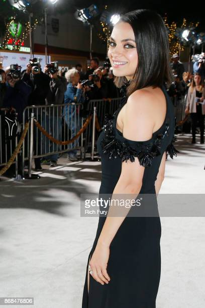 Mila Kunis attends the premiere of STX Entertainment's 'A Bad Moms Christmas' on October 30 2017 in Los Angeles California