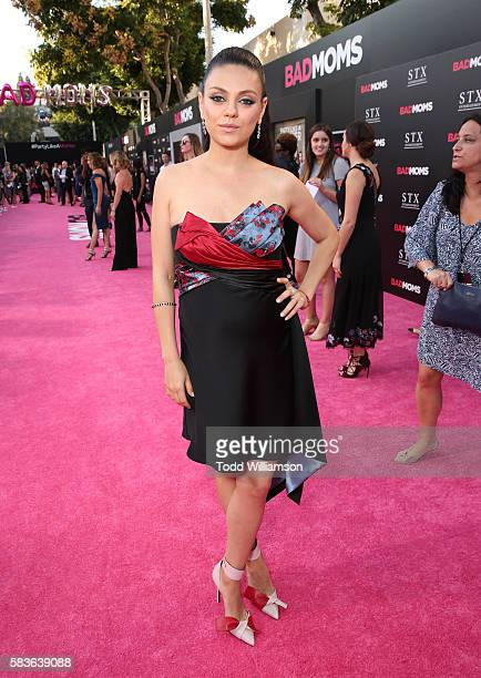 Mila Kunis attends the premiere Of STX Entertainment's 'Bad Moms' at Mann Village Theatre on July 26 2016 in Westwood California