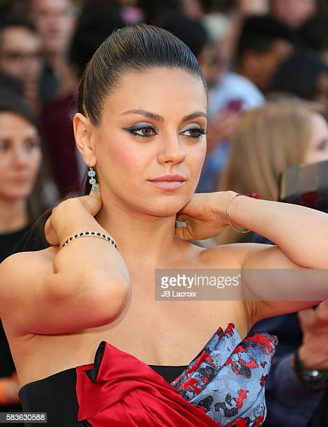 Mila Kunis attends the premiere of STX Entertainment's 'Bad Moms' on July 26 2016 in Westwood California