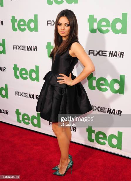 Mila Kunis attends the 'Ted' premiere held at Grauman's Chinese Theatre on June 21 2012 in Hollywood California