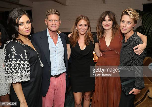 Mila Kunis guest Annie Mumolo Kathryn Hahn and President of STX Entertainment Sophie Watts attend the after party for the 'Bad Moms' premiere at...