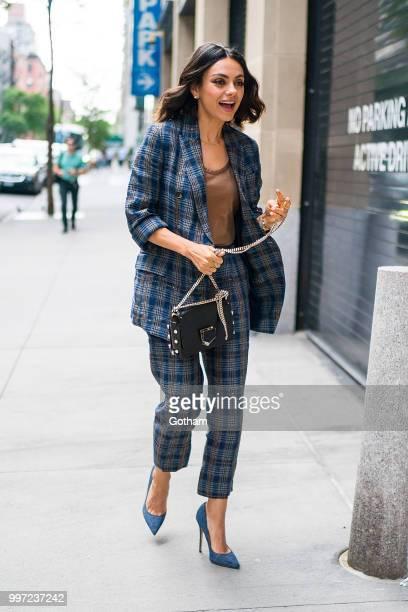 Mila Kunis is seen in Midtown on July 12 2018 in New York City
