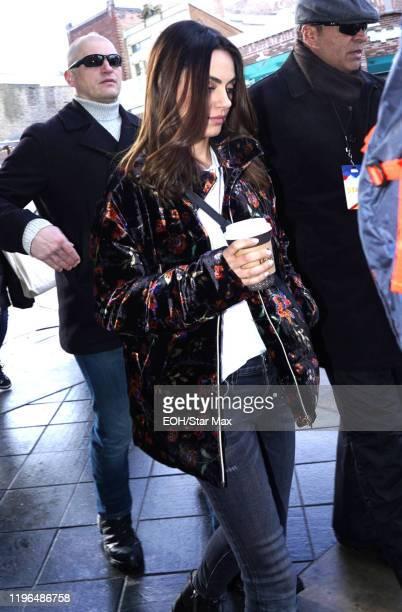 Mila Kunis is seen on January 25 2020 in Park City Utah