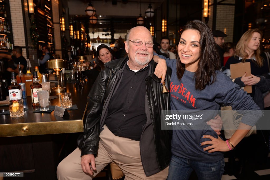 Mila Kunis, Jim Beam's Global Brand Partner, Surprised Fans Celebrating The 85th Anniversary Of The repeal Of Prohibition In Chicago : News Photo