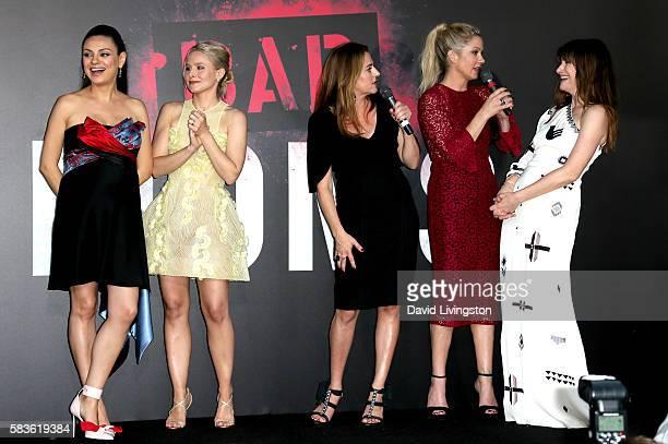 Mila Kunis Kristen Bell Annie Mumolo Christina Applegate and Kathryn Hahn attend the premiere of STX Entertainment's 'Bad Moms' at Mann Village...