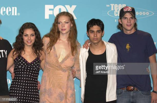 Mila Kunis Laura Prepon Wilmer Valderrama and Ashton Kutcher