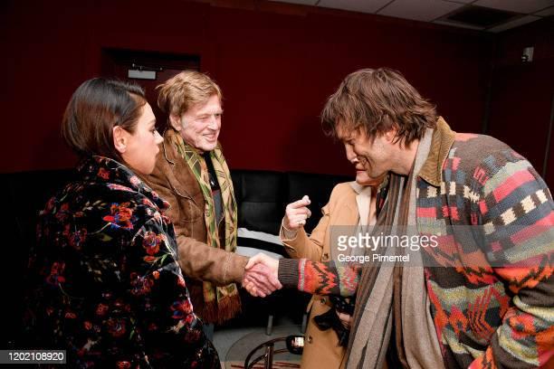 Mila Kunis Robert Redford Glenn Close and Ashton Kutcher attend the 2020 Sundance Film Festival Four Good Days Premiere at Eccles Center Theatre on...
