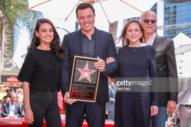 Mila Kunis Seth MacFarlane Ann Druyan and Ted Danson attend a ceremony honoring MacFarlane with a star on the Hollywood Walk Of Fame on April 23 2019...