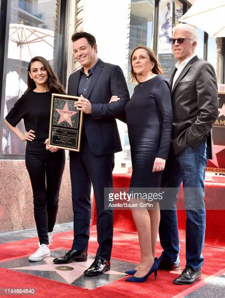 Mila Kunis Seth MacFarlane Ann Druyan and Ted Danson attend the ceremony honoring Seth MacFarlane with Star on the Hollywood Walk of Fame on April 23...