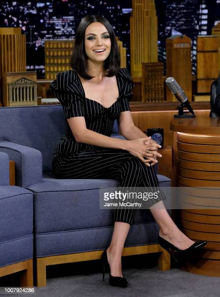 Mila Kunis visits The Tonight Show Starring Jimmy Fallon at Rockefeller Center on July 30 2018 in New York City