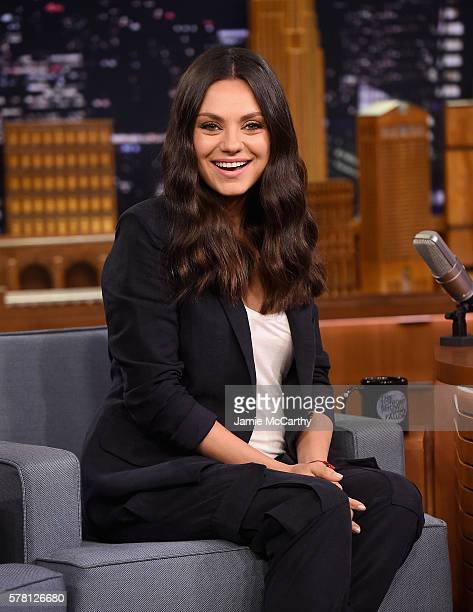 Mila Kunis visits 'The Tonight Show Starring Jimmy Fallon'at Rockefeller Center on July 20 2016 in New York City