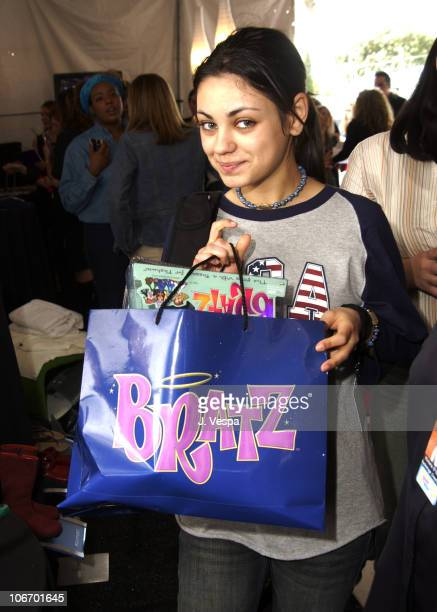 Mila Kunis with MGA Entertainment Bratz Dolls during Nickelodeon's 15th Annual Kids Choice Awards Backstage Creations Talent Retreat Day 2 at Barker...