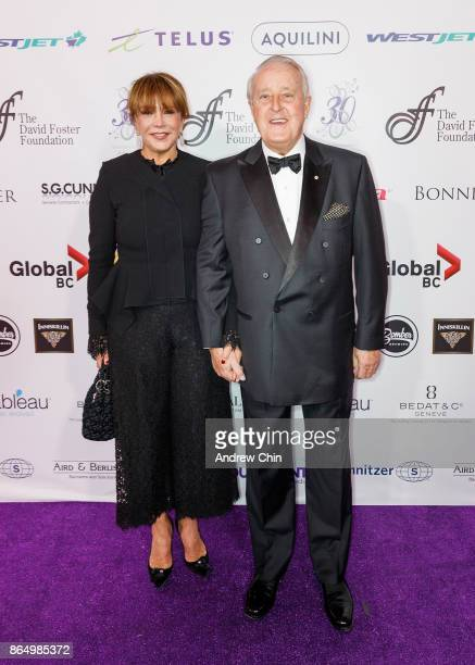 Mila Mulroney and Brian Mulroney arrive for the David Foster Foundation Gala at Rogers Arena on October 21 2017 in Vancouver Canada