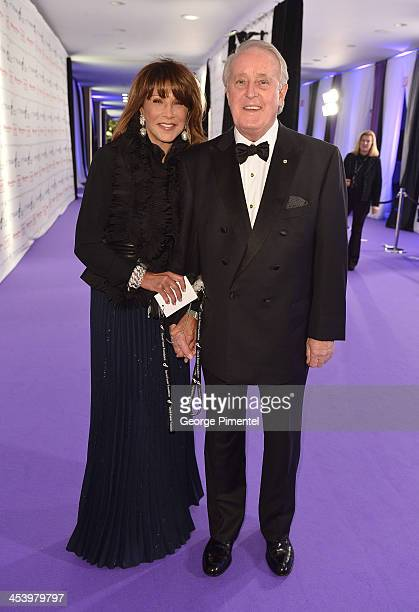 Mila Mulroney and Brian Mulroney attend the David Foster Foundation Benefit Concert at Allstream Centre on December 5 2013 in Toronto Canada