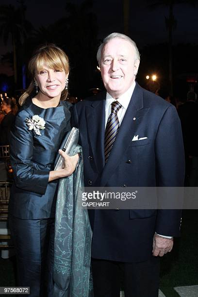 Mila Mulroney and Honorable Brian Mulroney attend the Andrea Bocelli concert at The MaraLago Club on February 28 2010 in Palm Beach Florida