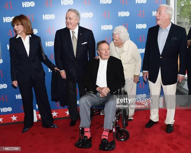 Mila Mulroney her husband Former Prime Minister of Canada Brian Mulroney Film Subject President George HW Bush his wife Mrs Barbara Bush and...