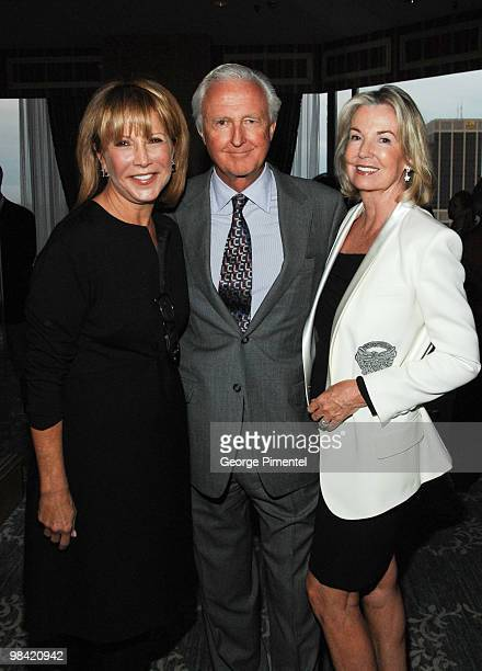 Mila Mulroney Mr Galen Weston and Hilary Weston attend the Devil's Casino book launch at the Four Seasons Hotel on April 12 2010 in Toronto Canada