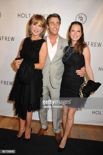 Mila Mulroney television host Ben Mulroney and stylist Jessica Mulroney pose at the Holt Renfrew launch of Vignettes with Alexa Chung Coco Rocha and...