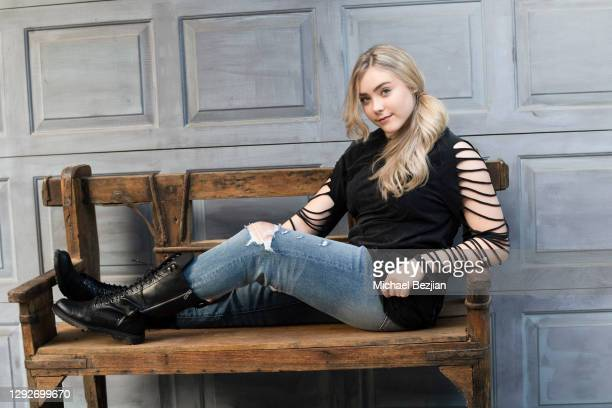 Mila Nabours poses for portrait at Conejo and Friends Visit TAP Studios on December 21, 2020 in Los Angeles, California.