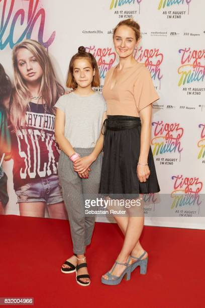 Mila Schiller and actress Anne-Catrin Maerzke attend the 'Tigermilch' premiere at Kino in der Kulturbrauerei on August 15, 2017 in Berlin, Germany.