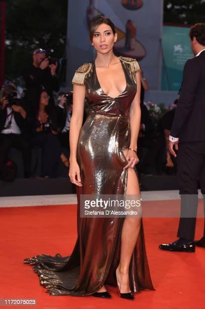 Mila Suarez walks the red carpet ahead of the Om Det Oandliga screening during the 76th Venice Film Festival at Sala Grande on September 03 2019 in...