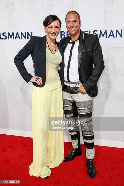Mila Wiegand and Kai Ebel attend the Bertelsmann Summer Party at the Bertelsmann representative office on September 10 2014 in Berlin Germany
