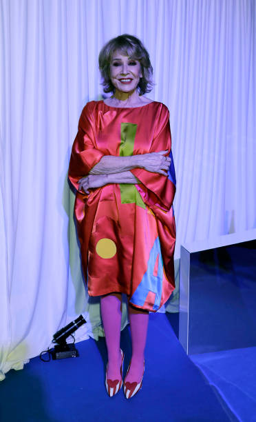 Mila Ximenez attends Agatha Ruiz de la Prada fashion show during the Merecedes Benz Fashion Week Autum/Winter 202021 at Ifema on January 29 2020 in...