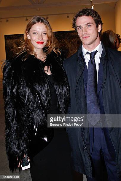 Milagros Schmoll and Felix Winckler attend the opening of Thaddaeus Ropac's new gallery on October 13 2012 in Pantin France