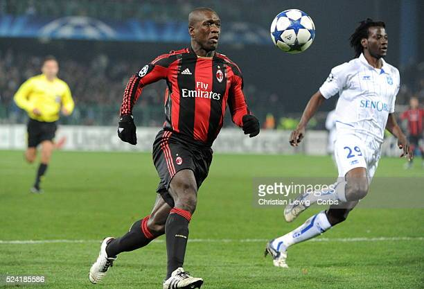 Milan AC s Clarence Seedorf during the UEFA Champions League soccer matchgroup g AJ Auxerre vs AC Milan at L'Abbe Deschamps stadiumin AuxerreFrance...