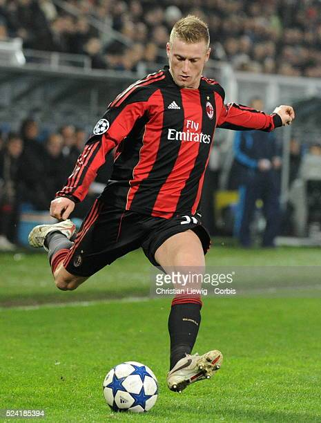 Milan AC s Ignazio Abate during the UEFA Champions League soccer matchgroup g AJ Auxerre vs AC Milan at L'Abbe Deschamps stadiumin AuxerreFrance on...