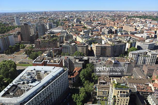 Milan aerial view, Lombardy, Italy