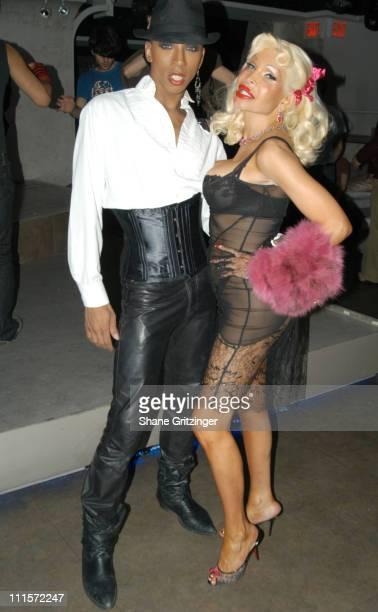 Milan and Amanda Lepore during Amanda Lepore and Richie Rich Host Distortion Disko November 17 2005 at Duvet in New York City New York United States