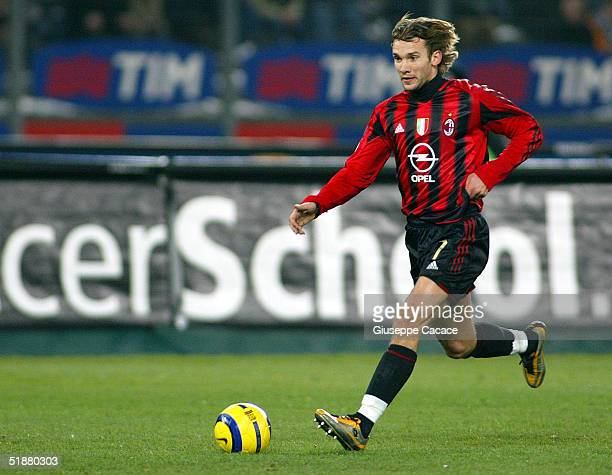Milan Andriy Schevchenko in action during their Italian serie A football match at Stadio delle Alpi in Turin Italy The match ended in a 00 draw