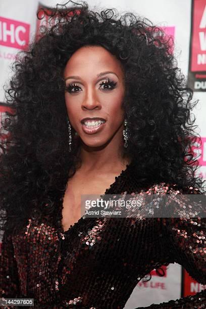 Milan attends A SINsational Make Up Extravaganza Benefitting AIDS Walk New York at Splash Bar on May 13, 2012 in New York City.