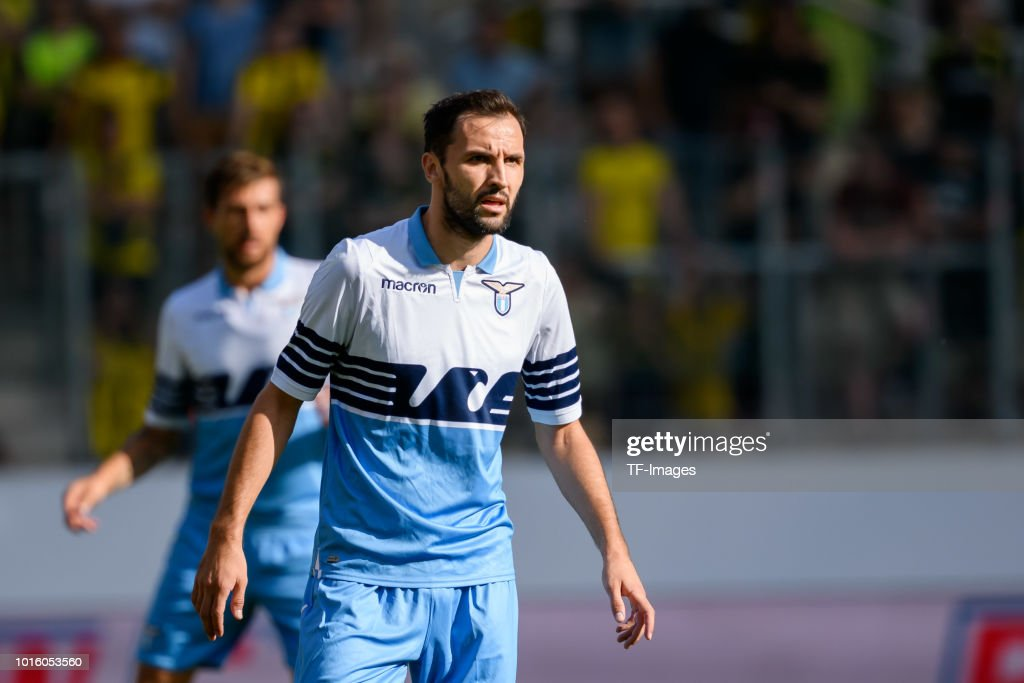 Milan Badelj of Lazio Rom looks on during the friendly ...