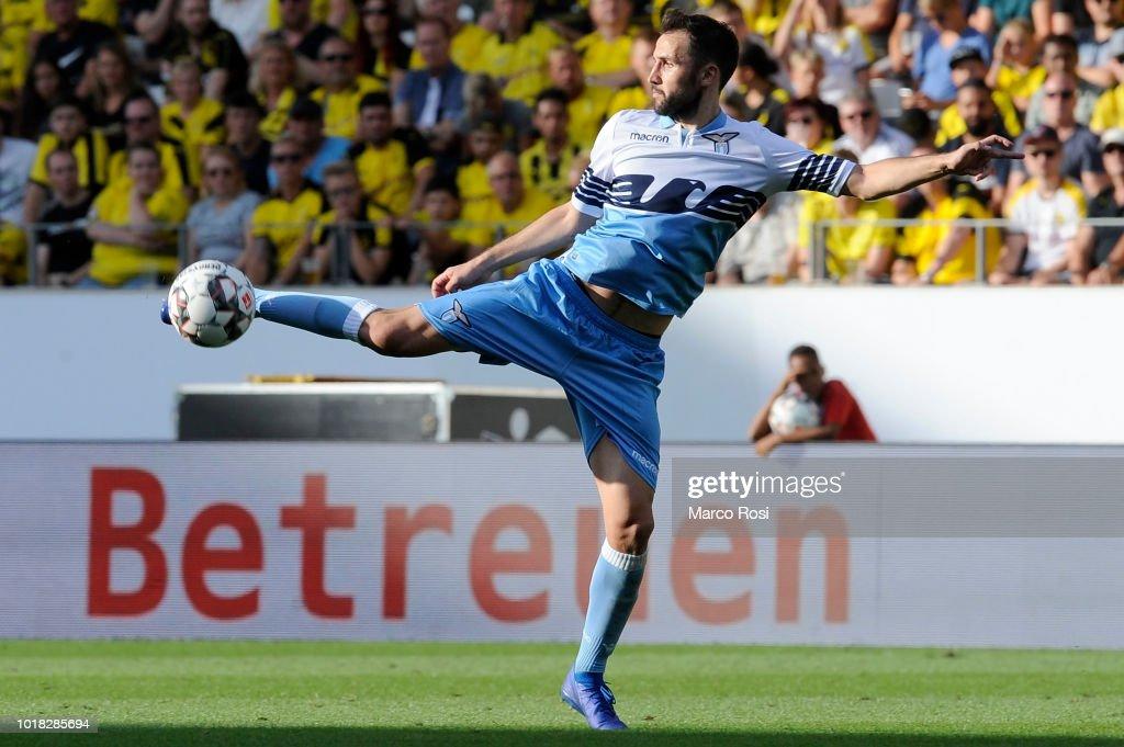 Milan Badelj of SS Lazio in actin during the Borussia ...