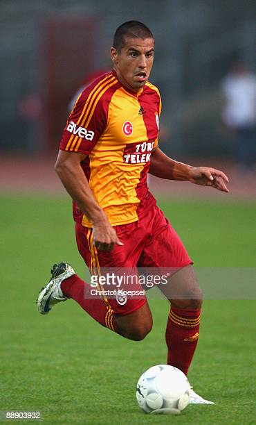 Milan Baros of Galasataray runs with the ball during the Zayon Cup match between Galatasaray Istanbul and Wydad AC Casablanca at the Lorheide stadium...