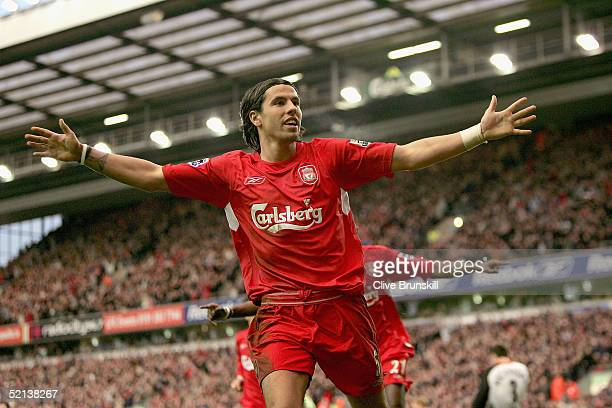 985 Liverpool Milan Baros Photos And Premium High Res Pictures Getty Images