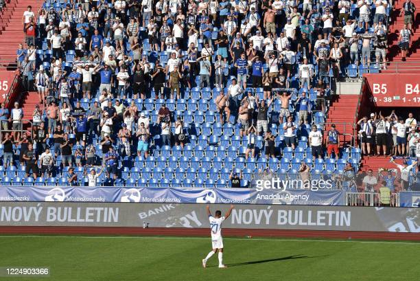 Milan Baros says goodbye to the fans after the match between FC Banik Ostrava and FC Viktoria Plzen at Vitkovice Stadium in Ostrava, Czech Republic...