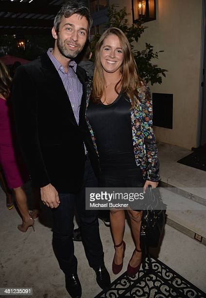 Milan Blagojevic and Alexandra Feldman attend a reception to celebrate Rashida Jones' New Glamour Column hosted by Cindi Leive and Jane Buckingham at...