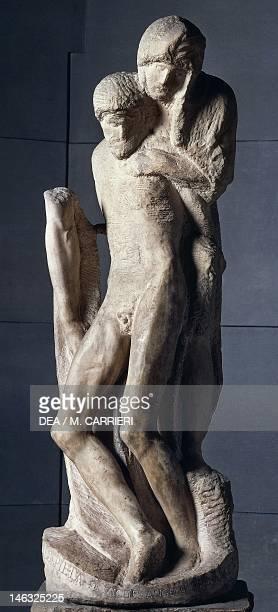 Milan, Castello Sforzesco, Civiche Raccolte D'Arte, Museo D'Arte Antica Rondanini Pieta, 1555-1564, by Michelangelo , marble sculpture, 195 cm height.