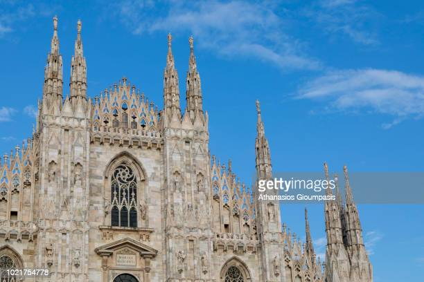 Milan Cathedral or Duomo di Milano on August 08 2018 in Milan Italy