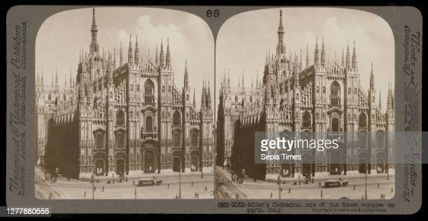 Milan Cathedral, Stereographic views of Italy, Underwood and Underwood, Underwood, Bert, 1862-1943, stereograph: gelatin silver, ca. 1900,...