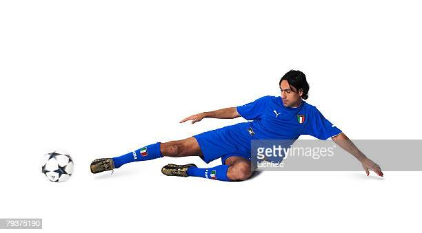 AC Milan centre back Alessandro Nesta wearing the strip of the Italian national team 7th November 2003