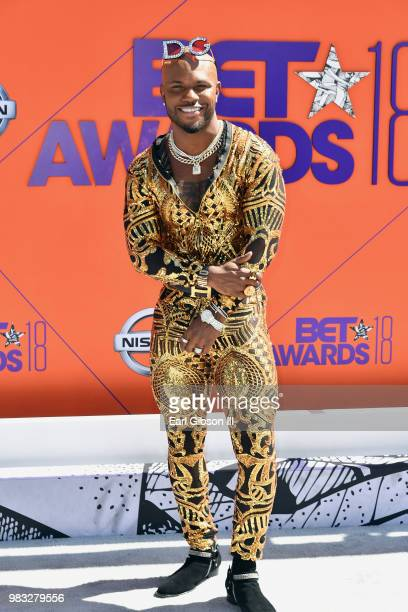Milan Christopher attends the 2018 BET Awards at Microsoft Theater on June 24 2018 in Los Angeles California