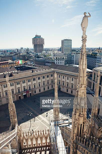 Milan cityscape from the Duomo